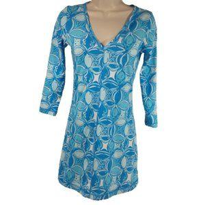 Lilly Pulitzer What a Racquet Juliet Dress XS Blue